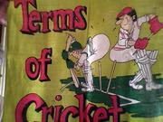 Хлопковая сувенирная скатерть Правила игры в Крикет